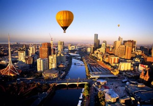 Melbourne & Southbank at dawn
