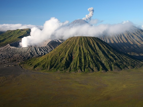 Bromo rising from the Mars-like landscape. Photo: Richard Seaman