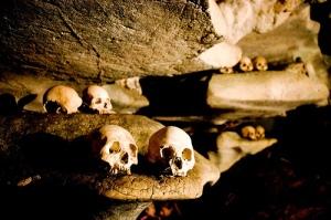 Cave burials, Toraja Highlands. Photo: flickr member Phitar