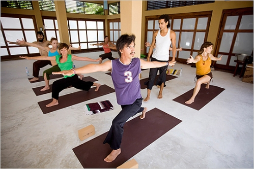 Brand new yoga studio and vinyasa classes at Ocho Tulum eco resort. Photo: Michael Nagle for The New York Times