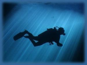 Diver-Silhouette