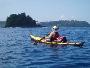 Kayaking along the Tsunami-ravaged coast of North Sumatra. Photo: Playak