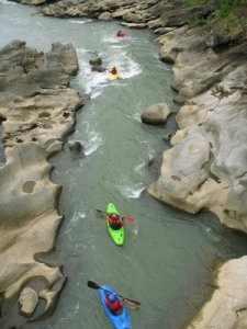 Klawing River, Purbalingga, East Java. One of Indonesia's many extreme kayaking destinations.