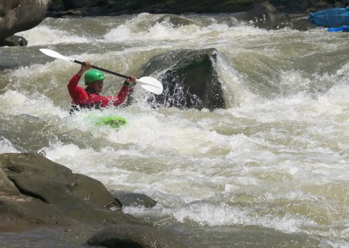 Klawing River, one of the many destinations for extreme kayaking in Indonesia. Photo: Playak