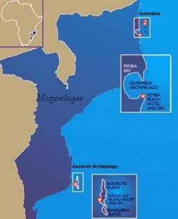 Map-Mozambique-Bazaruto Archipelago