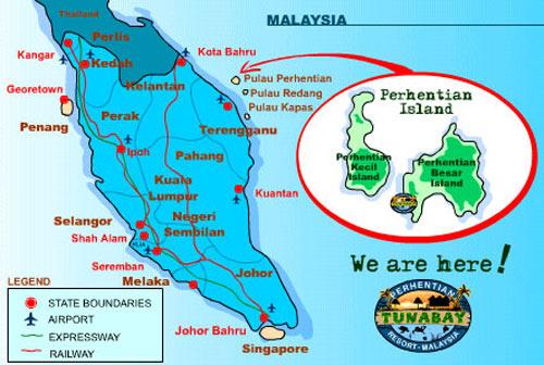 Malaysia Beach Resorts Map Malaysia's Secret Beaches ~ Perhentian Islands | E