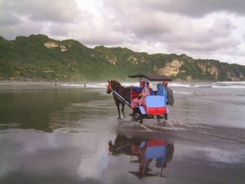 A ride across the wide beach, Parangtritis. Photo: www.tourinmylife.co.cc