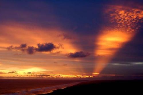 Parangtritis Beach at sunset.