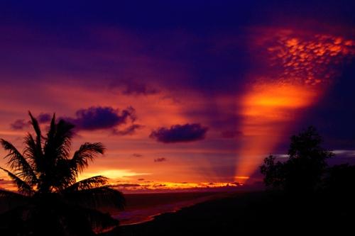Beautiful sunset at Parangtritis, where the Sea Goddess dwells.