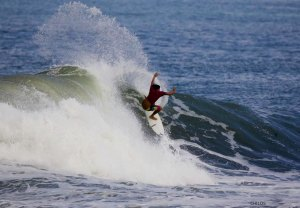 Rizal Tanjung enjoying a typical session at one of the many peaks of Canggu. Photo: Surfer Mag