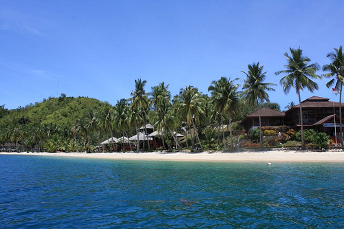 Sikuai Island Resort cottages. Photo: Riky Kurniawan
