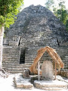 Cobá Mayan Ruins-Group_Pyramid-photo wikipedia