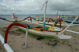 Jukung-Balinese Outrigger Sailboat